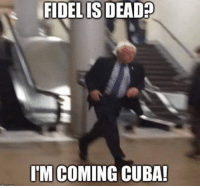 Memes, Cuba, and Conservative: FIDELIS DEAD  IM COMING CUBA! Commies gonna commie... LOL! ~ Ginger  Rowdy Conservatives