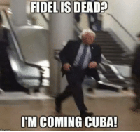 Memes, Cuba, and 🤖: FIDELIS DEAD  IM COMING CUBA! To the Bernmobile!