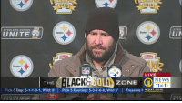 News, Nfl, and Live: FIELD  IELD  STEELERS NATION  STEEL  Steelers  Steelers  Hains  IN  Steelers  NFL  LIVE  LACKULI  GOLの  NEWS  11 at 11  THE  ZONE  Pick 5 Day: 5.1-1-0-1, wild: 8  |  Pick 5 Evening: 5-3-2-6-6, wild: 7  |  Treasure ㅏ wpxī.com  STEELERS NATION  STE訌 Big Ben looks like he's about to rob the McAllisters. 😂😂😂 https://t.co/5qWqGsQqFj