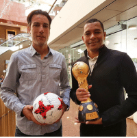 Memes, 🤖, and Media: FIFA Between them, Ivan Vicelich & @gilbertosilvaofficial played in four FIFA ConfedCup tournaments between 1999 and 2009. Today, the two of them are meeting media together in newzealand, with just 90 days until the Kiwis open the 2017 edition against hosts Russia on 17 June. AllWhites Krasava landofthelongwhitecloud ⚽️🏆🇳🇿🇧🇷🇷🇺