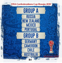 America, Fifa, and Memes: FIFa Confederations Cup RUssia 2017  GROUP A  RUSSIA  NEW ZEALAND  MEXICO  PORTUGAL  GROUP B  GERMANY  CAMEROON  CHILE  AUSTRALIA  br 2 HARI LAGI MENUJU PIALA KONFEDERASI 2017! (17 Jun - 3 Jul) Grup A 1. Rusia (Tuan rumah) 2. Selandia Baru (Juara OFC nations Cup) 3. Meksiko (Juara CONCACAF Cup) 4. Portugal (Juara Euro) Grup B 1. Jerman (Juara Piala Dunia) 2. Kamerun (Juara Piala Afrika) 3. Chile (Juara Copa America) 4. Australia (Juara Piala Asia) Mana yang kalian jagoin gaes? 💪🏆