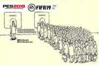 Fifa, Football, and Memes: FIFA  FIFA19  PRO EVOLUTION SOCCER  SPORTS  COUNTER1  COUNTER 2  Marcos Football Corner  OTrollFootball  TheTrollFootballInsta  - PES or FIFA?