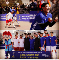 The historical square of Suwon in Korea Republic was host to a five-a-side football match earlier today, featuring Diego Maradona and @pabloaimaroficial! The Argentina legends are in the city for tomorrow's U20WC draw - a competition that they both won in the early years of their football careers 👌: FIFA U-20  KOREA  kr.FIFA.co  U20 WORLD  KOREA REp 2017  FIFA U-20  201  FIFA U-20 WORLD CUP KOREA REPUBLIC 2017  Trigger  Ehe Fever  LD C  LIC 20 The historical square of Suwon in Korea Republic was host to a five-a-side football match earlier today, featuring Diego Maradona and @pabloaimaroficial! The Argentina legends are in the city for tomorrow's U20WC draw - a competition that they both won in the early years of their football careers 👌