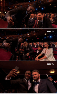 Idris Elba taking selfies with 3 of the Greatest players of all time. https://t.co/V4HQpVKmjU: FIFATV   FIFATV Idris Elba taking selfies with 3 of the Greatest players of all time. https://t.co/V4HQpVKmjU