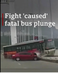 A fight between a bus driver and a passenger in China is being blamed for a terrible accident which saw the vehicle plunge 50m off a bridge, killing at least 13 people. Tap the link in our bio to find out more about the crash that has shocked the country. china chongqing yangtzeriver bbcnews: Fight 'caused  fatal bus plunge A fight between a bus driver and a passenger in China is being blamed for a terrible accident which saw the vehicle plunge 50m off a bridge, killing at least 13 people. Tap the link in our bio to find out more about the crash that has shocked the country. china chongqing yangtzeriver bbcnews