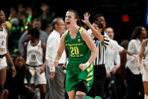 Basketball, Ducks, and Ncaa: FIGHTInG  CKS What a year for Sabrina Ionescu as she led Oregon Women's Basketball to its 1st Final 4  - P12 POTY  - NCAA-record 7 triple-doubles in a season - Broke NCAA all-time (men's and women's) triple-double record  - Led Ducks to 2nd straight P12 regular season title  Stats: 19.9 PPG | 8.2 APG | 7.4 RPG