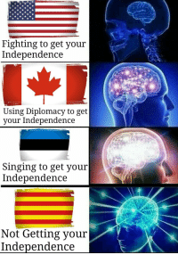 Singing, Diplomacy, and Never: Fighting to get vour  Independence  Using Diplomacy to get  vour Independence  Singing to get youir  Independence  Not Getting your  Independence <p>You can never leave</p>