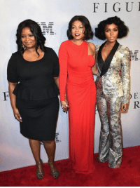 "Janelle Monáe , Octavia Spencer and Taraji P. Henson attends the ""Hidden Figures"" New York Special Screening on December 10, 2016 in New York City.: FIGUI  llil-ill  ER Janelle Monáe , Octavia Spencer and Taraji P. Henson attends the ""Hidden Figures"" New York Special Screening on December 10, 2016 in New York City."