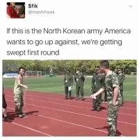 Fact: 15 minutes of jump roping can burn the equivalent of a candy bar: $fik  mashfreak  If this is the North Korean army America  wants to go up against, we're getting  swept first round Fact: 15 minutes of jump roping can burn the equivalent of a candy bar