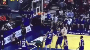 Fil-Am Jalen Green dunks over Kai Sotto.: Fil-Am Jalen Green dunks over Kai Sotto.