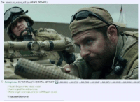What gamers thought American Sniper would be like:: File: american sniper stillpg (48 KB, 800x451)  Best Sniper in the whole world  Hard scoped the entire movie  >Not a single no scope, or even a 360 quick scope  What a terrible movie. What gamers thought American Sniper would be like: