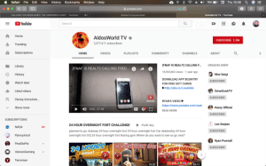 Boxing, Community, and Disney: File  Edit  View History Bookmarks  Thu 10:36  Window  Help  Safari  78%  >  youtube.com  Submit to pyrocynical  AldosWorld TV - YouTube  CALLING THE BOSS BABY! *HE ANSWERED OMG* - YouTube  YouTube  Search  Home  AldosWorld TV  SUBSCRIBE 2.5M  2,577,411 subscribers  Trending  Subscriptions  НOМЕ  VIDEOS  PLAYLISTS  COMMUNITY  CHANNELS  ABOUT  (FNAF IS REAL?!) CALLING F...  DRAGON ARMY  Library  (FNAF IS REAL?!) CALLING FRED...  15,092,863 views 1 year ago  Moe Sargi  History  DOWNLOAD APP BOUNTRY  SUBSCRIBE  Watch later  FOR FREE GIFT CARDS  Freddy Fazbear  http://abo.io/LoveAldo  Liked videos  OmarGoshTV  SUBSCRIBE  Disney Instrumen...  RYAN'S VIDEO  Subscribe  https://www.youtube.com/watc  Show more  Kazzy Official  HD  0:00/27:08  СС  READ MORE  LL  SUBSCRIBE  SUBSCRIPTIONS  Leo Swipes  24 HOUR OVERNIGHT FORT CHALLENGE  PLAY ALL  NASA  NASA  SUBSCRIBE  planned to go: Subway 24 hour overnight fort 24 hour overnight fort Car dealership 24 hour  overnight fort DQ 24 hour overnight fort Boxing gym Where do you want to see us go next?  Pyrocynical  Ryan Pownall  PewDiePie  24 HOURS  Walmart  24 HOURS SECRET BASE  SUBSCRIBE  24 HOURS OVERNIGHT  VanossGaming  Terroriser  McDonald's.  MPLAYPLAC20:11  17:11  19:20 Hi, Pyrocynical. I found this channel that you can do commentary on. He still does 3 AM challenges and fuses it with FNAF and other dead memes / trends. I'm not sure if you're interested, but I hope this helps. (He claims he's kid friendly, so you can get ad revenue $$.)