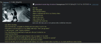 """Heardly: File: thgi png (1.11 MB, 930x619)  greentext worst day of school Anonymous 09/13/17(Wed)20:31:47 No.39722400、  39722439  be me  >be 10th grade  >have femdom fetish  >have a redhead qt3.14 in my history class  >sits next to me  >talk to her once  3  04 20  >she smiles at me  >i thought she liked me  turns out she was just a nice person who smiled at everyone  >go with it anyway  around February i dropped my binder and she picks it up for me  >she picks it up and puts it in my binder and says """"here you go anon  shit you not, i said """"thanks mistress""""  >her friend heard me and had a huge grin she just looked at me  >looked at her friend  Just titlted my head and tears dripped onto my paper on my desk  >she looked, patted me on the back and said """"its ok anon, everyone is special""""  >she told me that no one would find out about this incident  and no one did, but it stuck with me and makes me cringe so hard i slam my fists on my desk and throw water bottles"""