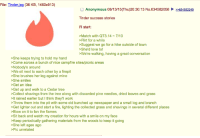 4chan, Fire, and Love: File: Tinder  jpg (36 KB, 1460x913)  O Anonymous 08/13/15 (Thu)20:30:13 No.634582058 22634582249  Tinder success stories  I'll start:  Match with QT3 14 7/10  Flirt for a while  Suggest we go for a hike outside of town  She'd love to!  >We're walking, having a great conversation  >She keeps trying to hold my hand  Come across a bunch of nice campfire sites/picnic areas  Nobody's around  >We sit next to each other by a firepit  She brushes her leg against mine  She smiles  >Get an idea  Get up and walk to a Cedar tree  >Collect shavings from the tree along with discarded pine needles, dried leaves and grass  lt rained earlier but l think they'll work  Throw them into the pit with some old bunched up newspaper and a small log and branch  >Get lighter out and start a fire, lighting the collected grass and shavings in several different places  >Blow on it to fan the flames  Sit back and watch my creation for hours with a smile on my face  >Keep periodically gathering materials from the woods to keep it going  She left ages ago  Pic unrelated The right way to use tinder