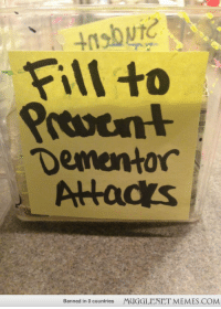 """<p>The tip jar at my local Starbucks was under attack apparently. <a href=""""http://ift.tt/1f0RtGO"""">http://ift.tt/1f0RtGO</a></p>: Fill to  Dementor  Alacs  Banned in 0 countries  MUGGLENET MEMES.COM <p>The tip jar at my local Starbucks was under attack apparently. <a href=""""http://ift.tt/1f0RtGO"""">http://ift.tt/1f0RtGO</a></p>"""