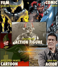 "Game of Thrones, God, and Hungry: FILM  NTERACTIVE HOLOGRAM  COMIC  EARTH-2  RVAUGHN  COLLECTIBLE TOY  ACTION FIGURE  @WONDERVAUGHN  JUSTICE LEAGUE UNLIMITED  CIARAN HINDS  CARTOON  ACTOR GENERAL STEPPENWOLF Commander of the Parademon Army Darkseid's Uncle * Played by Game Of Thrones actor Ciaran Hinds, in ""Justice League"" he will be hunting down the 3 MOTHERBOXES (sentient supercomputers made of technology that's way beyond that of humanity) on Earth that are protected by the Amazonians, Atlanteans and Humans (Cyborg). * Steppenwolf is an immortal New God from the planet Apokolips. He possesses strength, speed and stamina appropriate for his race. An experienced military leader, Steppenwolf wields several weapons, most notably his electro axe. He is a master swordsman and hand-to-hand combatant. * ""He's hungry. He's found us. And he's coming!"" - Lex Luthor. Steppenwolf and his Parademons are just the first wave from Darkseid's Elite. He is a huge threat to the League and to Earth. *** superhero injustice dceu dc dccomics dcrebirth dcentertainment dcnation dcextendeduniverse darkseid steppenwolf gameofthrones ciaranhinds"