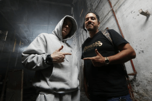 "Bad, Dank, and Genius: FILMS ""I wanted to show the fans that we were inside the mind of a lyrical maniacal genius."" - Danny Hastings - check his #SSLP20 interview on the site - http://shady.sr/SSLP20SignupFp  (Photo from Bad Meets Evil shoot)"