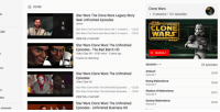 clone wars: FILTER  Clone Wars  s 6 seasons 121 episodes  Star Wars The Clone Wars Legacy Story  Reel Unfinished Episodes  chevw  THE  Star Wars The Clone Wars Story reel 1: a death o... 22:20  Star Wars The Clone wars Story Reel 2 in search. .22:25  VIEW FULL PLAYLIST  CLONE  WARS  UBE  Star Wars Clone Wars The Unfinished  Episodes - The Bad Batch HD  Video Clips HD 315K views 2 years ago  Thanks for Watching!  SEASON 1  &TM 2014汎  SEASON 1  22 episodes  22:32  WS  Ambush  Episode 1  22:39  Star Wars Clone Wars The Unfinished  Episodes  Video Clips HD  Star Wars Clone Wars The Unfinished Episodes -.. .22:20  Star Wars Clone Wars The Unfinished Episodes . 22:25  VIEW FULL PLAYLIST  Rising Malevolence  Episode 2  22:39  ht  Shadow of Malevolendc  Episode 3  22:41  deo  Destroy Malevolence  Episode 4  22:42  Star Wars Clone Wars The Unfinished  Episodes - Unfinished Business HD  channels