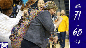 Basketball, Head, and Memes: FIN A L ROCKETS WIN! Toledo advances to the second round of the WNIT after tonight's 71-65 victory over Seton Hall. The Rockets will host the second round of the WNIT on Sunday, March 24th at Savage Arena. Stay tuned for details on game time and opponent.  Tonight was also Tricia Cullop's 241st career win, making her the winningest head coach in Toledo Women's Basketball history! Congratulations, Tricia! #ThisIsToledo #GoRockets #WNIT