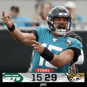 FINAL: @GardnerMinshew5 and the @Jaguars cruise to victory over the Jets! #NYJvsJAX https://t.co/nVXr6CiGKE: FINAL  1529  NEW YOR  ETS FINAL: @GardnerMinshew5 and the @Jaguars cruise to victory over the Jets! #NYJvsJAX https://t.co/nVXr6CiGKE