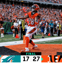 Memes, Bengals, and 🤖: FINAL  17 27 FINAL: @Bengals score 27 unanswered to win! #SeizeTheDEY   #MIAvsCIN https://t.co/LaoNpxYjkh