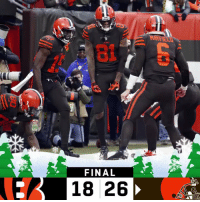Memes, Browns, and Games: FINAL  18 26 FINAL: The @Browns have won 5 of their last 6 games! #Browns  #CINvsCLE https://t.co/jdWuGTcUoG
