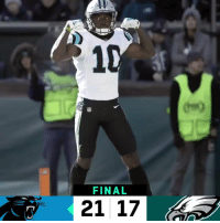 Memes, Panthers, and 🤖: FINAL  21 17 FINAL: @Panthers score 21 unanswered points to win! #CARvsPHI  #KeepPounding https://t.co/dFKH4NA32p