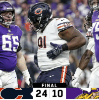 Memes, 🤖, and Final: FINAL  24 10 FINAL: The @ChicagoBears finish the season 12-4! #DaBears  #CHIvsMIN https://t.co/XP7l2aaomW