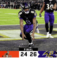 Memes, Ravens, and 🤖: FINAL  24 26 FINAL: The @Ravens are heading to the #NFLPlayoffs! #RavensFlock  #CLEvsBAL https://t.co/xMEYvNl7u3