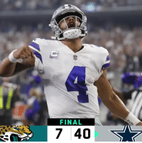 FINAL: @dallascowboys DOMINATE! #JAXvsDAL #DallasCowboys https://t.co/0Ke0m5pKbL: FINAL  7 40 FINAL: @dallascowboys DOMINATE! #JAXvsDAL #DallasCowboys https://t.co/0Ke0m5pKbL