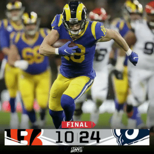 FINAL: The @RamsNFL are bringing home a W from London! #CINvsLAR https://t.co/nyDUKoeJUi: FINAL  E10 24 FINAL: The @RamsNFL are bringing home a W from London! #CINvsLAR https://t.co/nyDUKoeJUi