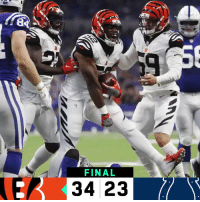 Memes, Bengals, and 🤖: FINAL FINAL: The @Bengals win in Indy! #CINvsIND  #SeizeTheDey https://t.co/nNOGAlMzB9