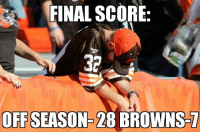 Memes, Nfl, and Browns: FINAL SCORE:  OFFSEASON 28 BROWNS RGIII scored the lone Browns TD, but tore his ACL in the process Credit: Dustin Mcpherson | LIKE NFL Memes!