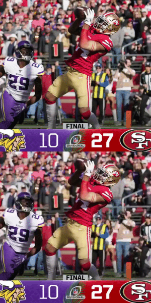FINAL: The @49ers defeat the Vikings in the Divisional Round! #NFLPlayoffs #GoNiners  (by @Lexus) https://t.co/gBWLeSUDZZ: FINAL: The @49ers defeat the Vikings in the Divisional Round! #NFLPlayoffs #GoNiners  (by @Lexus) https://t.co/gBWLeSUDZZ