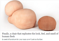 Love, Smell, and Target: Finally, a chair that replicates the look, feel, and smell of  numan flesh  In need of furniture for your man cave? Look no further valvala:  im a man and i LOVE sitting on GIANT BALLSACKS