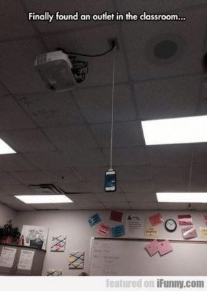 Finally found an outlet in the classroom..  featured on iFunny.com If you are a student Follow @studentlifeproblems​