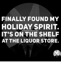 FINALLY FOUND MY  HOLIDAY SPIRIT.  fyif  IT'S ON THE SHELF  AT THE LIQUOR STORE. T'is the season to drink our way through the holidays • • • holiday christmas booze spirit holidays holidayspirit liquor liquorstore
