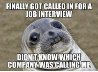 "Job Interview, Tumblr, and Blog: FINALLY GOT CALLED IN FOR  JOB INTERVIEW  DIDN'T KNOW WHICH  COMPANY WAS CALLING ME  MEMEFUECOM <p><a href=""http://awesomacious.tumblr.com/post/170595822541/i-apply-one-month-ago-i-thought-they-ignored-me"" class=""tumblr_blog"">awesomacious</a>:</p>  <blockquote><p>I apply one month ago. I thought they ignored me</p></blockquote>"