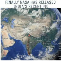 Nasa, North Korea, and China: FINALLY NASA HAS RELEASED  INDIA'S RECENT PIC  Latvia  oland  Ukraine  Roman  MongoiD  Oana  Mazakhstan  North Korea Ja  Georgia  South Korma  Turkey  Terbalian  Turkmenistan  China  Taiwan  RANjEtan  Stute Bank of  GAudi Arab  Banglades  LA:a  Myanmar  India  (Burma) rauao  Philip  hailand  Vietnam  Ca  Malaysia  Somalia  Lanka  Indone  Sri Singapore Zoom karke dekh lo 😂😂