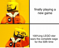 Lego Star Wars The Complete Saga: finally playing a  new game  100%ing LEGO star  wars the complete saga  for the 50th time