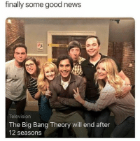Big Bang Theory: finally some good news  Television  The Big Bang Theory will end after  12 seasons