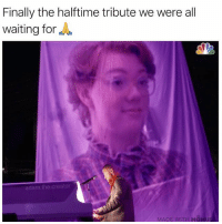 Funny, Waiting..., and Creator: Finally the halftime tribute we were all  waiting for  adam.the.creator  MADE WITH MOMUS Long past due 🙌🏼 RIPBARB (@adam.the.creator)