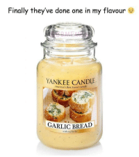 herbs: Finally they've done one in my flavour  YANKEE CANDLE  America's Best Loved Candle  GARLIC BREAD  with real herbs