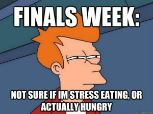 15 Addictively Funny Stress Eating Memes #sayingimages #memes #funnymemes #stresseatingmemes: FINALS WEEK  NOT SURE IFIMSTRESS EATING, OR  ACTUALLY HUNGRY  quickmeme.com 15 Addictively Funny Stress Eating Memes #sayingimages #memes #funnymemes #stresseatingmemes