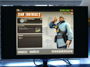 Why does it look like this when I play TF2? (windoeed, low resolution): FIND A GAME  TEAN FORTRESS 2  SUCCYSEPPUKU  ASUAL  EVEL: 1  50 MP  Oxp  FEATURED  Map Stamp-Lauahter  Purchasing this Item directly supports the creators  of the Laughter community map.  $0.99  2  FRIENDS  Noot  Away  Activate Window  Ge to Settings to i  Windows  ITEMS  SHOP  Niew Sonic Why does it look like this when I play TF2? (windoeed, low resolution)