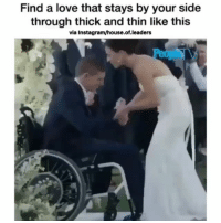 Instagram, Love, and Memes: Find a love that stays by your side  through thick and thin like this  via Instagram/house.of.leaders ThatsWhatsUp