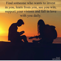 <3: Find someone who wants to invest  in you, learn from you, see you win  support your visions and fall in love  with you daily.  living the  LAW of ATTRACTION <3