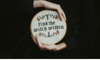 Tumblr, Blog, and Witch: find the  witch within muffinsandmagick: I stitched every stitch with a bit of magick