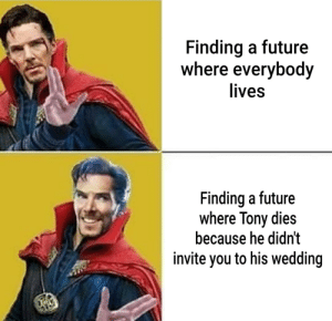 Future, Reddit, and Smooth: Finding a future  where everybody  lives  Finding a future  where Tony dies  because he didn't  invite you to his wedding Chacha real smooth