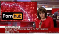 """News, Porn Hub, and Pornhub: @findmeoffline  0 75.I  96.21  5 1  96  Porn hub  15  5  33  BREAKING NEWS  Pornhub Traffic Plummets due to No Nut November  Stay strong my niggies  BBC NEWS 14:39  63 dead due to elevated stress levels from not fappir <p>Very easy to change, i see large profits ahead! via /r/MemeEconomy <a href=""""http://ift.tt/2zoojAS"""">http://ift.tt/2zoojAS</a></p>"""